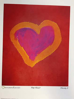 Mindy's Red Heart (Print)