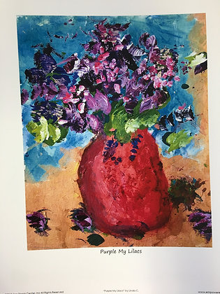 Linda C. - Purple My Lilacs (Print)