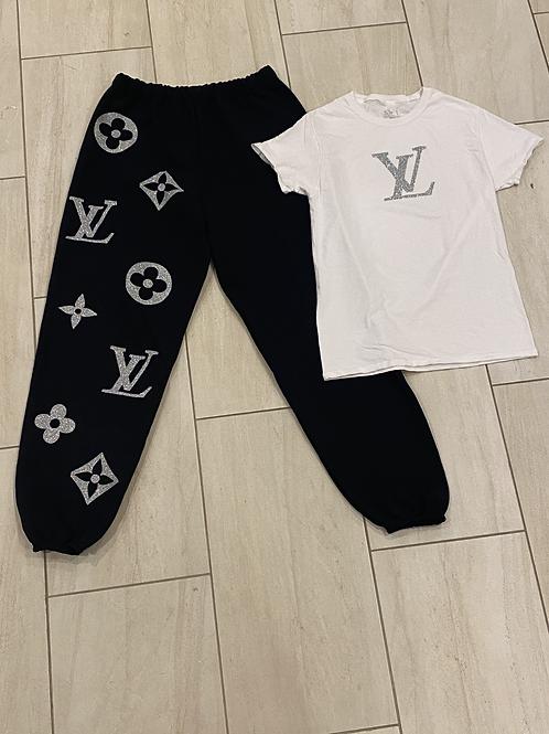 Louis Vuitton Inspired T-shirt Set
