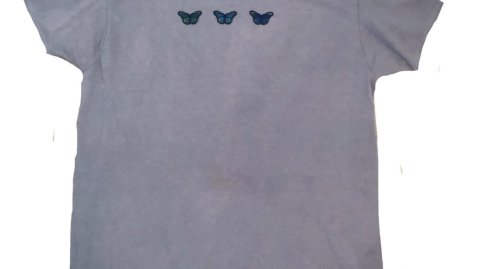 Oversized Grey Butterfly T-Shirt