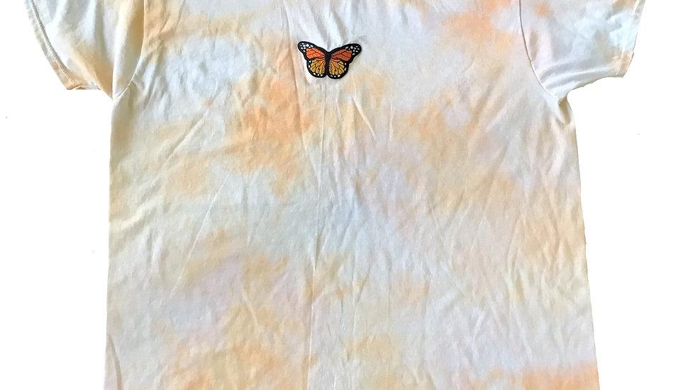 Oversized Orange Tie-Dye T-Shirt