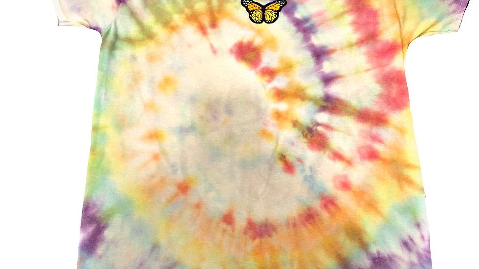 Oversized Rainbow Tie-Dye T-Shirt