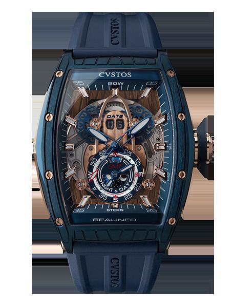 CVSTOS - Hour Minute Second - Challenge Sealiner GMT Blue