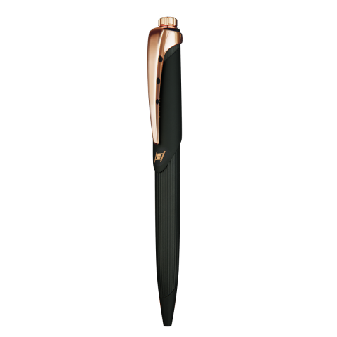 HYSEK - Kilada Pen - Black Soft Touch & Rose Gold Finishing