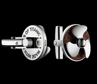 Romain Jerome - Titanic Cufflinks Rusted Steel & Steel