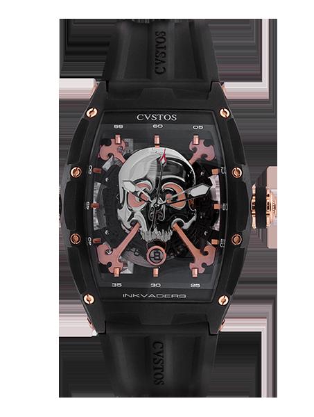 CVSTOS - Hour Minute Second - Inkvaders Jetliner Skull GT Black Steel & 5N
