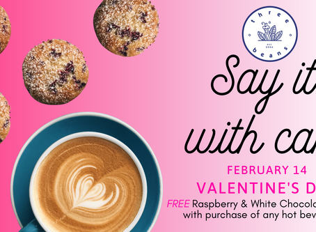 Say it with coffee and cake this Valentine's Day