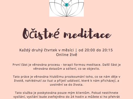 Speciální program pro klienty - Očistné meditace