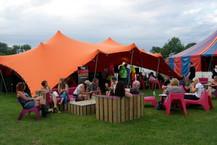 Orange Stretch Tent