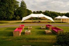 White Stretch Tent