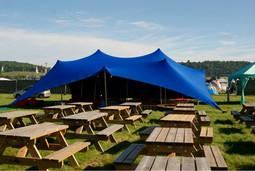 Blue Stretch Tent