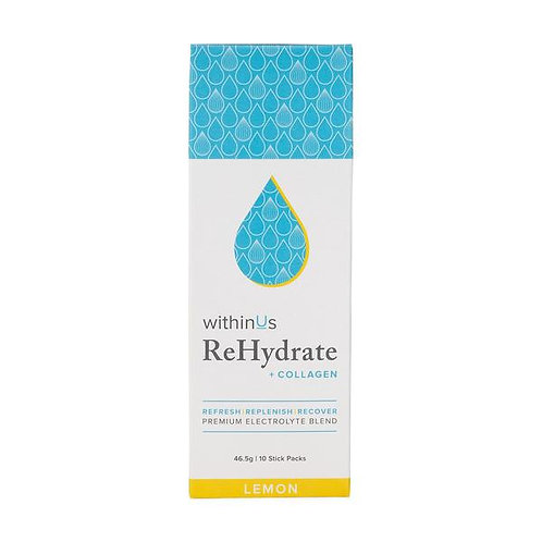 ReHydrate+TruMarine Collagen Stick Pack- Lemon