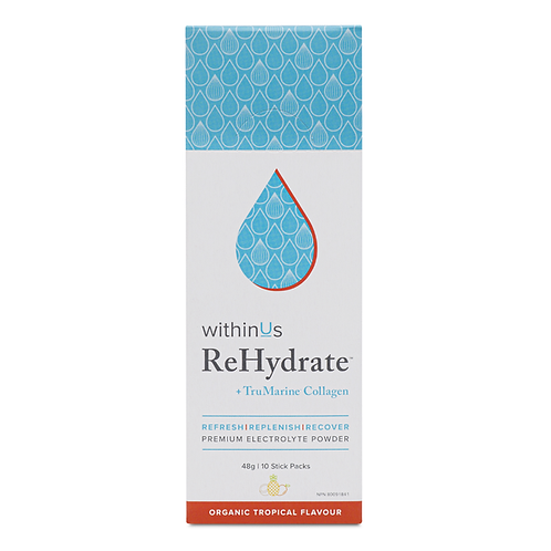 ReHydrate +TruMarine Collagen Stick Pack- TROPICAL