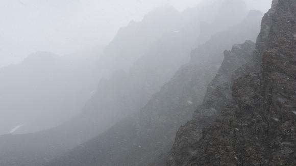 Snowstorm at Teleti Pass