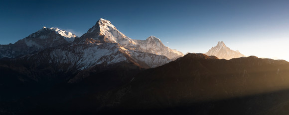Annapurna Himal in the Morning Sun