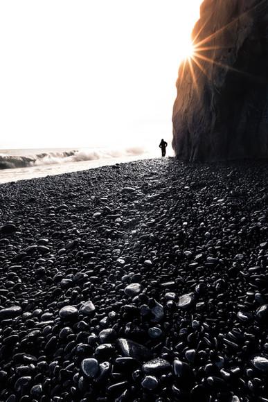 Black Beach Silhouette