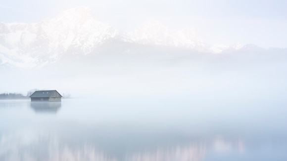 Misty Morning at Lake Almsee