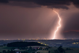 Blitz über Bezirk Amstetten