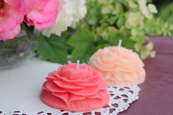 carving candle Rose