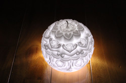 carving candle White Candle