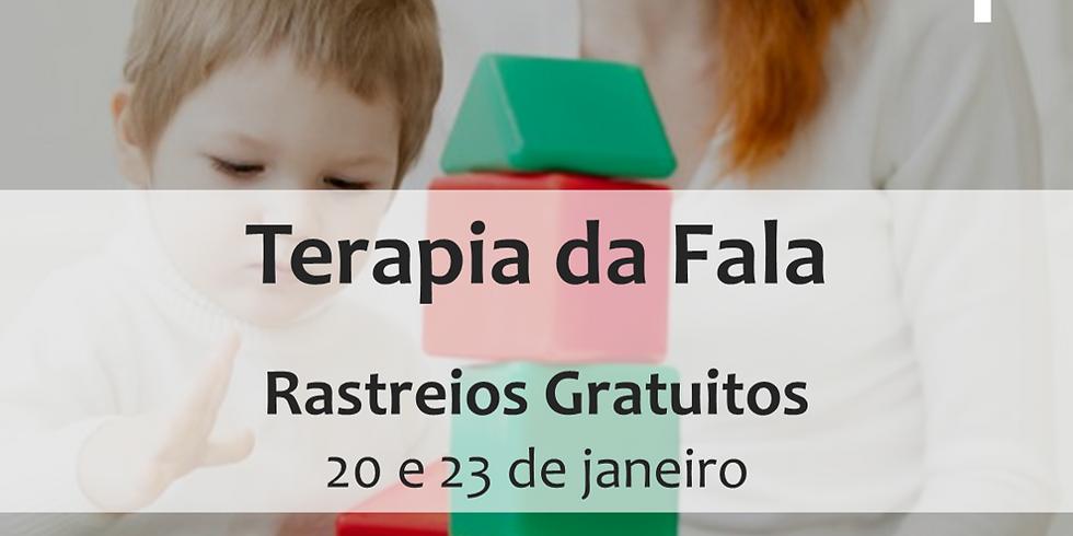 Rastreios Gratuitos em Terapia da Fala