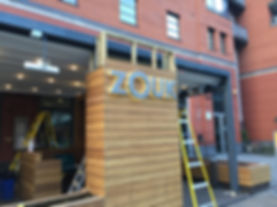 ZOUK Shop Front Sign & Retail Installation
