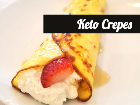 Keto Crepes - Low carb, high fat, and gluten free!
