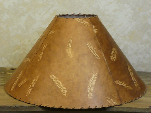 """Lamp Shade w/ Leather String 24x14x7"""""""