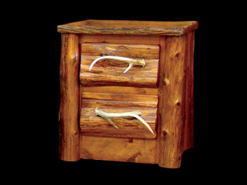 Stained White Cedar Night Stand