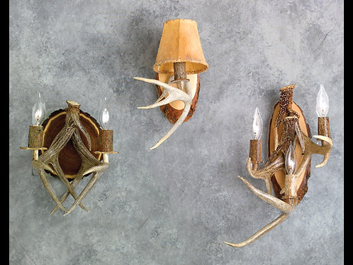 Triple Antler Wall Sconce