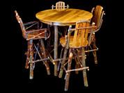 Hickory Bar Stools & Table
