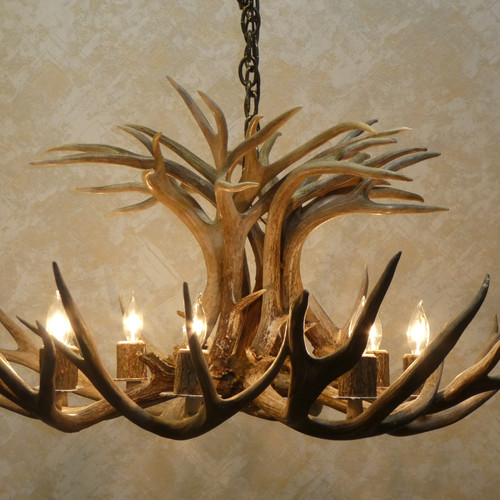 Antler chandeliers on sale griffith in american natural resources eight light mule deer tamarack antler chandelier for sale mozeypictures Image collections