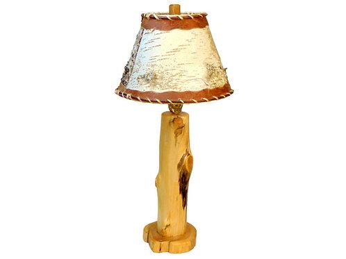 White Cedar Log Table Lamp