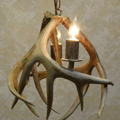 Antler chandeliers on sale griffith in american natural resources 2 light antler pendant light chandelier aloadofball Images