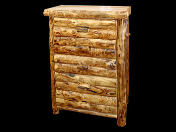 Aspen Half Log Style Chest