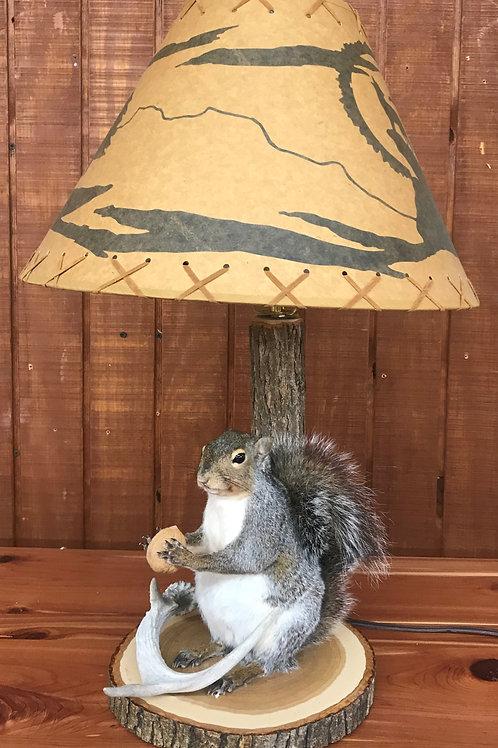 Squirrel w/ Lamp & shade