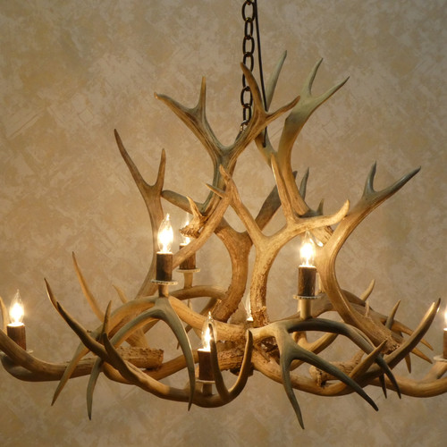 Antler chandeliers on sale griffith in american natural resources 8 light real mule deer oval antler chandelier aloadofball Choice Image
