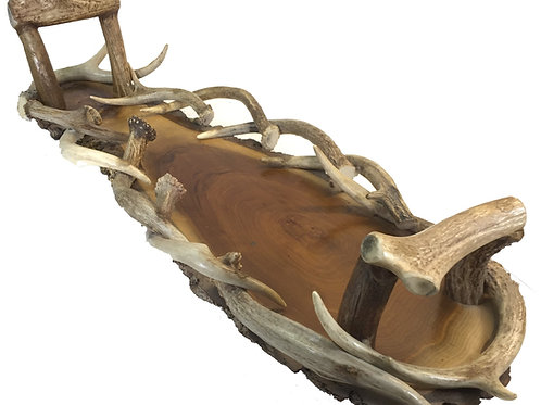 Real Antler Serving Tray