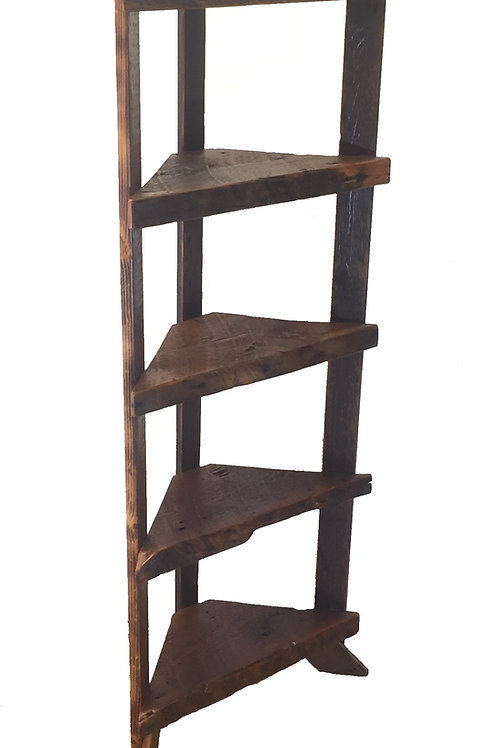 Reclaimed Barn Wood Corner Shelf