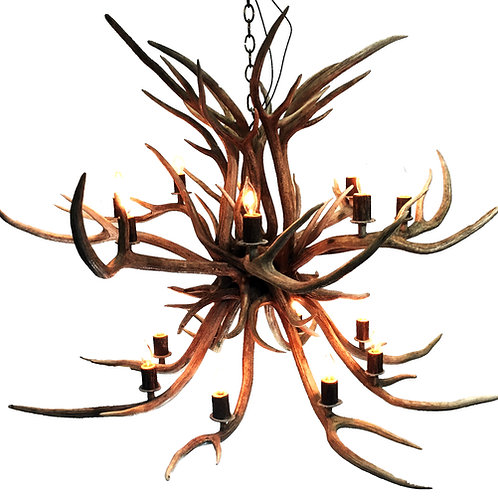 Two Tier Axis Deer Antler Chandelier