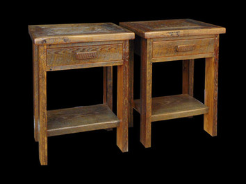 Barnwood End Table / Night Stand