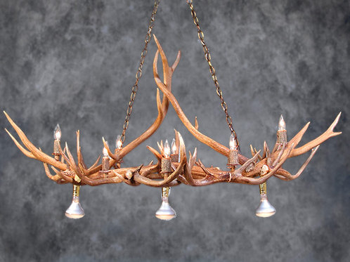 Straight Arrow Antler Chandelier
