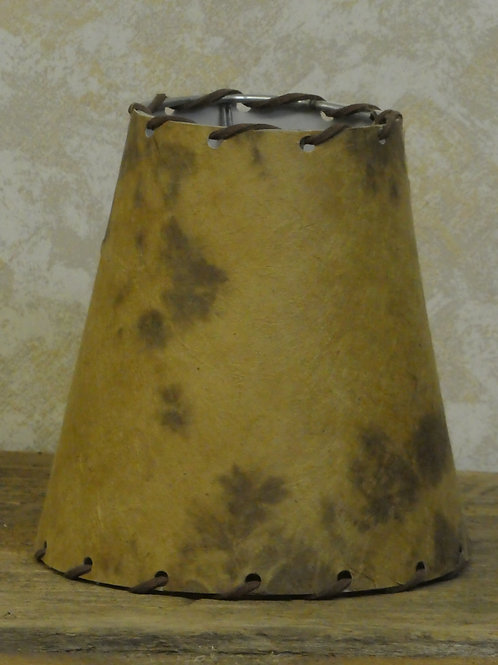 Lamp Shade w/ Leather String 6x5""