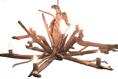 Two Tier Driftwood Chandelier