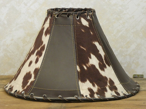Two tone Leather Lamp Shade --18x10""