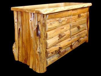White Cedar Half Log Style Dresser