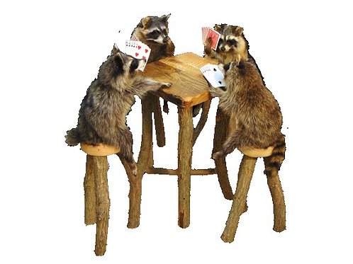Poker Playing Raccoons Taxidermy Mounts For Sale