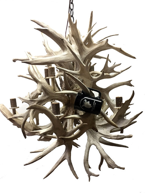 giant antler chandelier forty eight pound fireball
