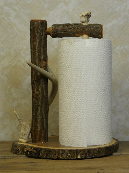 Paper Towel Holder with Antler