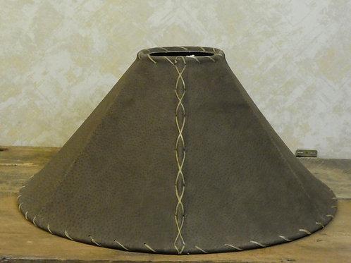 "Dark Brown Leather Lamp Shade 20x10"""